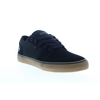 Etnies Barge LS  Mens Black Suede Skate Inspired Sneakers Shoes