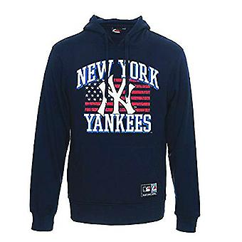 Majestic Formont NYY New York Yankees Mens Navy Pullover Hoody MNY1235NL R24A