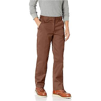 Essentials Men&s Standard Stain & Wrinkle-Resistant Classic Work Pant, Maro închis, 31W x 30L