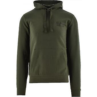 EA7 Green Logo Hooded Sweatshirt