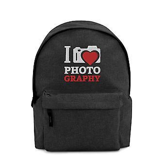 I Love Photography - Embroidered Backpack V2
