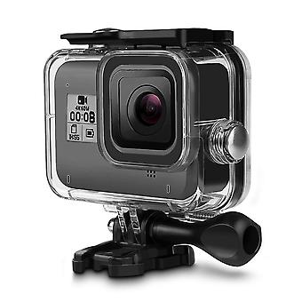 Waterproof protective housing case for gopro hero 8 black, itrunk 60m underwater housing case for di