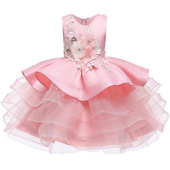 Kleine Kinder Satins stilvolle Kommunion Kleider Glitzer Ball kleid Pageant Blume