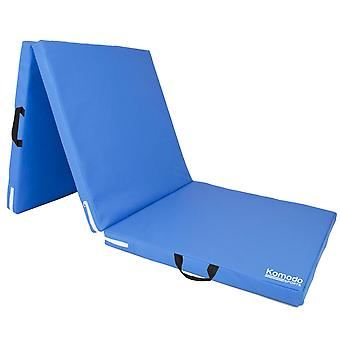 Komodo Tri Folding Yoga Mat - Blue