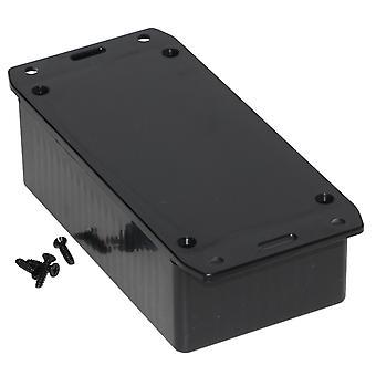 Hammond 1591CSFLBK Multipurpose GPABS Enclosure Flanged Lid 120 x 65 x 40 Black