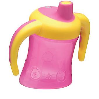 Playgro Glass with Pink and Yellow Handles to Learn to Drink