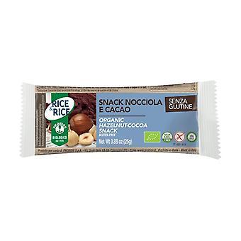 Hasselnøtt og kakao ris snack 25 g