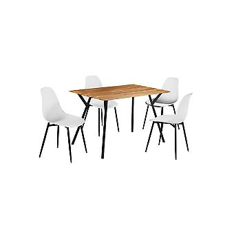 Lizz Table Chair Set Black And White