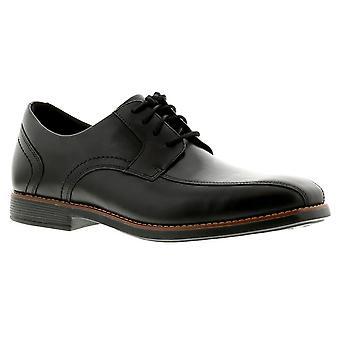 Rockport slayter bike toe leather mens formal shoes black UK Size