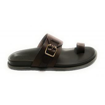 Men's Shoes Elite Ciabattona Finger In Leather Cow Col. Moro Head Us18el24