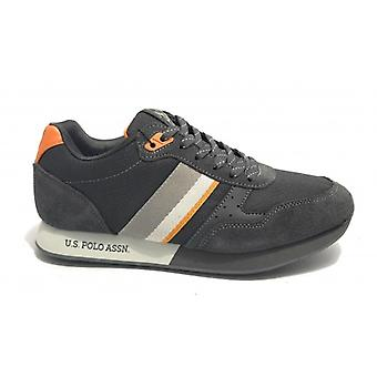 Sneaker Running Us Polo Mod. Julius In Suede/ Grey Men's Color Fabric U20up07