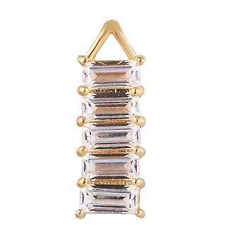J Francis fünf Stein Anhänger mit Swarovski® Zirkonia vergoldet Silber 3,27 ct