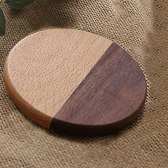 Durable Wood Coasters Round Heat Resistant Drink Placemat