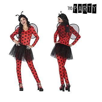 Costume for adults ladybird red (4 pcs)