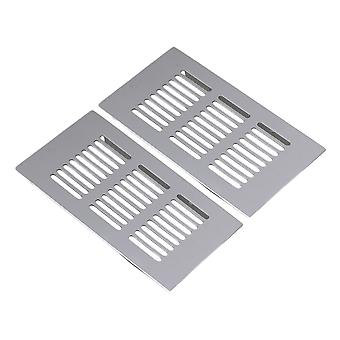 2pcs cuadrado 150mm ventilación de aluminio a la parrilla de ventilación de aluminio transpirable