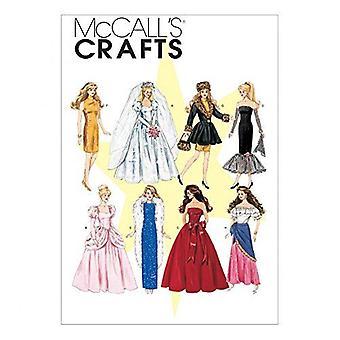 """McCalls Schnittmuster 6232 11 1/2"""" Puppe Kleidung Kleid Mantel eine Größe"""