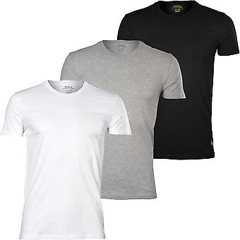 Polo Ralph Lauren 3-Pack Polo Player Crew-Neck T-Shirts, Black/White/Grey