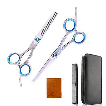 Haircut scissors straight snips thinning hairdressing barber tools lf6