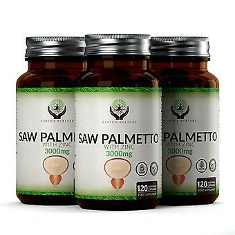 Extrait de Palmetto de scie avec le zinc (3000mg) 120 capsules