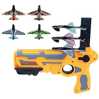 Catapult Airplane Bubble Air Combat One-click Pop-up Model Launcher Toy Glider Model Outdoor Toys for Children and Adults