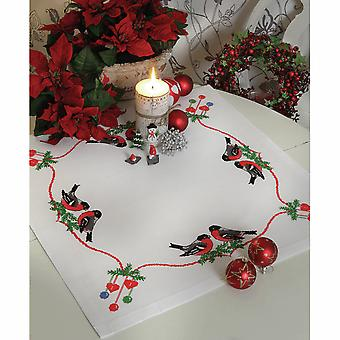Anchor Cross Stitch Kit: Christmas Bullfinches: Tablecloth