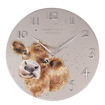 Wrendale Designs Wall Clock Cow