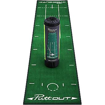FengChun Golf Puttingmatte Grn-Grau-Schwarz (50x240cm) - Trainingshilfe Indoor Putting Matte