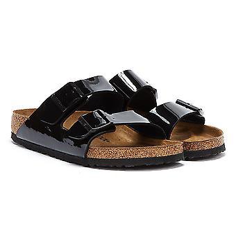 Birkenstock Arizona Birko Flor Patent Womens Black Sandals
