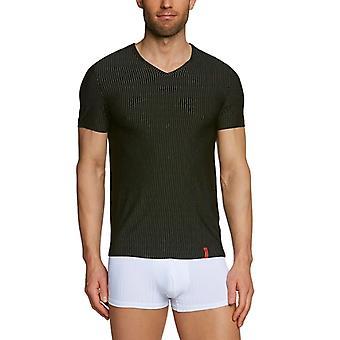 Bruno Banani - Regular Fit Gestreept T-shirt met V-hals, Korte Mouw, Man, Multicolor (Mehrfarbig (712 Schwarz/Wei Ref. 4039327680868