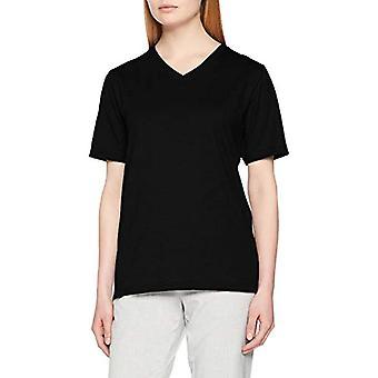Trigema Damen V-Shirt Deluxe Baumwolle T, Black (Schwarz 008), L Donna