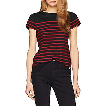 Armor Lux Marini�re ?TEL Heritage Femme T-Shirt, Multicolore (Ii9 Rich Navy/Braise Ii9), 42 (Taglia Produttore: 1) Donna