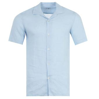 NN07 Miyagi Linen Short Sleeve Shirt - Light Blue