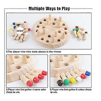 Wooden Memory Match Stick Chess Game Funny Block Board Game Memory Match Stick Chess Game