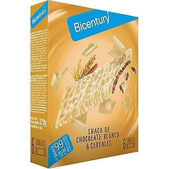 Energy bar Bicentury Sarialis White chocolate Cereals (6 uds)