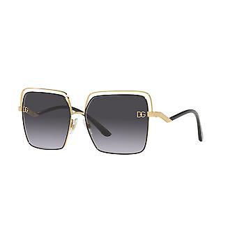 Dolce&Gabbana DG2268 13348G Kulta-Musta/Harmaa Kaltevuus Aurinkolasit