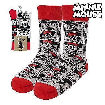 Sokker Minnie Mus Grå (En størrelse)