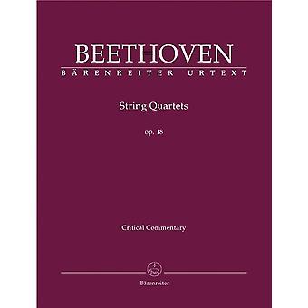 Beethoven: Streichquartette Op18 Nos 1-6 Crit Rep