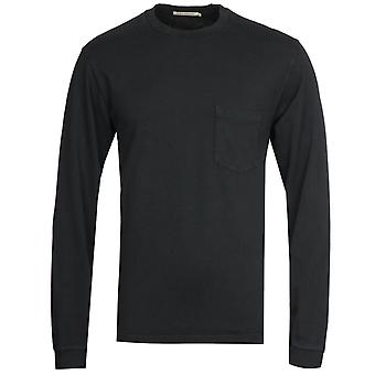 Nudie Jeans Co Rudi Long Sleeve Pocket T-Shirt - Black