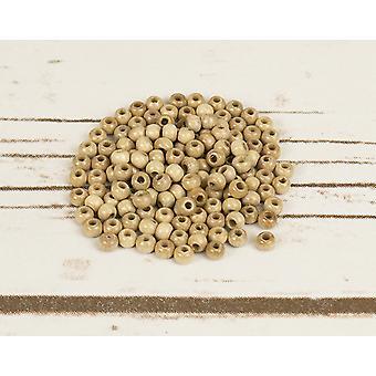 4mm Natuurlijke houten schroefdraad kralen volwassenen ambachten - 150pk