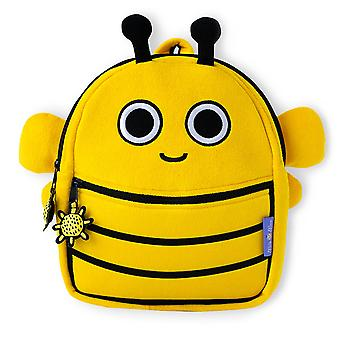 Milk&Moo Buzzy Bee Toddler Backpack, Mini, Lightweight, Comfortable Fit, Kids Backpack, Kindergarten Pre School Backpack for Girls and Boys, Yellow Color