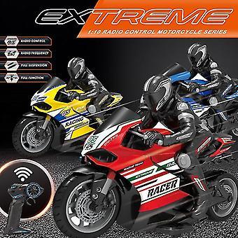 1:10 skala fjernkontroll motorsykkel racing motorsykkel elektrisk off road kjøretøy biler leker (rød)