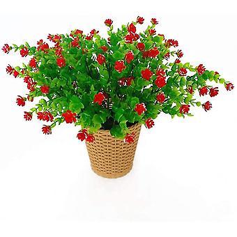 4pcs Artificial Flower Eucalyptus Bouquet Plants Greenery, Uv Resistant Fake Eucalyptus