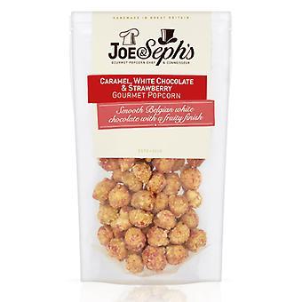 Hvit sjokolade & jordbær popcorn (70g)