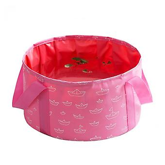 Portable Foldable Washbasin For Travel Laundry Washbasin Washbasin(Pink)