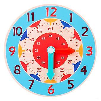 Børn Montessori Træ Ur Legetøj Hour Minute Anden Kognition Farverige Ure Legetøj Kids Tidlig Førskoleundervisning