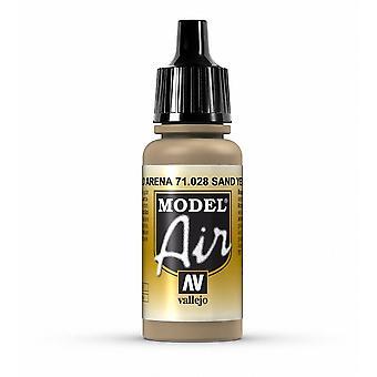 Vallejo Model Air 28 Sand Yellow - 17ml Acrylic Airbrush Paint