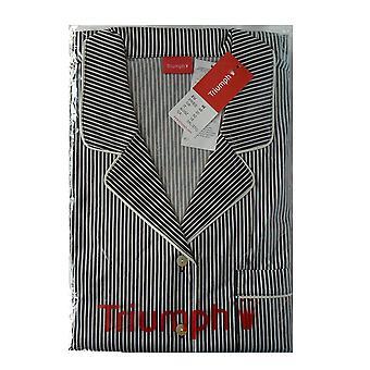 Triumph Charming Shades PW 05 Stripy Button Front Pyjamas