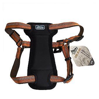 """K9 Explorer Reflective Adjustable Padded Dog Harness - Campfire Orange - Fits 12""""-18"""" Girth"""