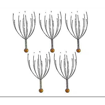 Massagers 5 pack handheld head massage tingler  scratcher for deep relaxation  hair stimulation and stress
