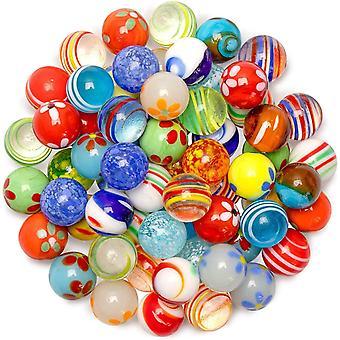 Ucradle Glass Marbles, 30Pcs Art Jouet coloré Marbres en verre Balles pour enfants classiques Jeux de marbres